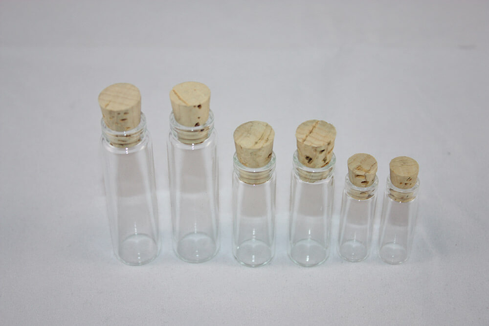 Clear Glass Vials with Cork
