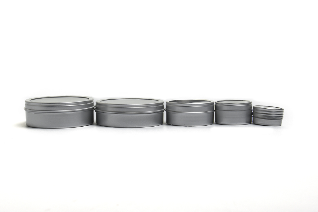 Aluminum Jars with Clear view Tops