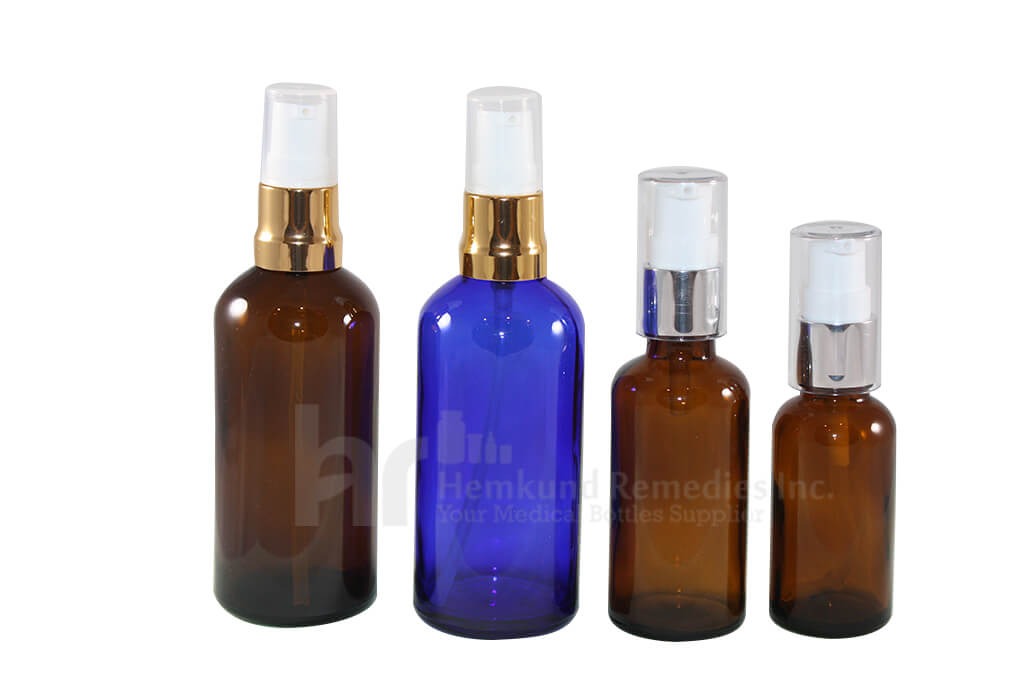 Glass bottles with Spray pumps